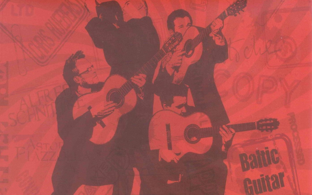 """2014 we supported release of the CD """"Tradicion Nuevo"""" of Baltic Guitar Quartet www.bgq.lt."""
