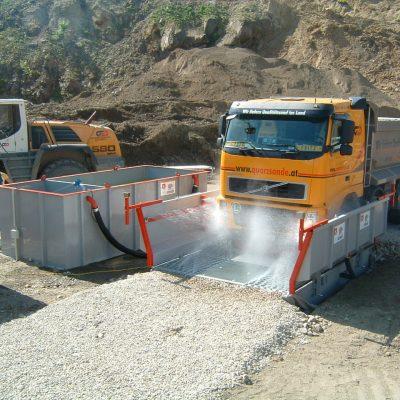 Sunkvežimių ratų plovimo įrenginiai