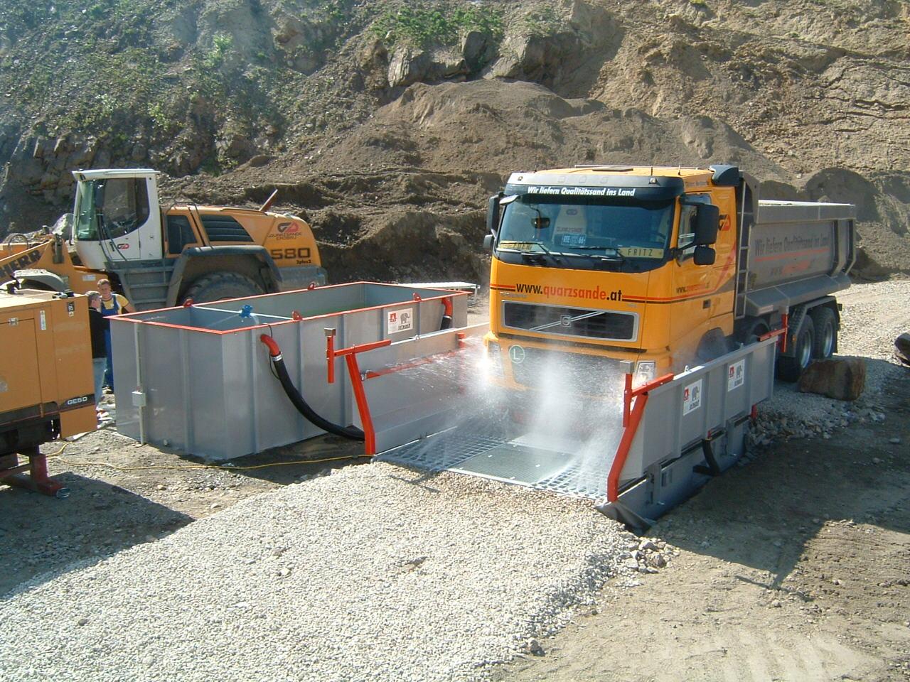 Automatinės sunkvežimių ratų plovimo sistemos